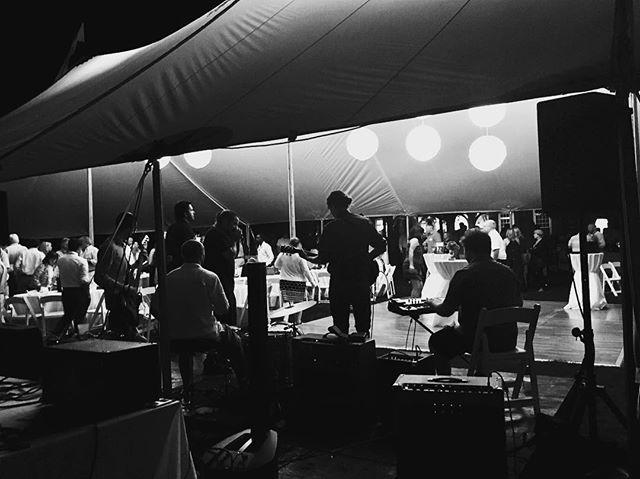 Cool shot from last night at the @mv.ice.arena fund raiser. Pic courtesy of @heyitstajchandler #marthasvineyard #blues #livemusic #bluesband #indieblues
