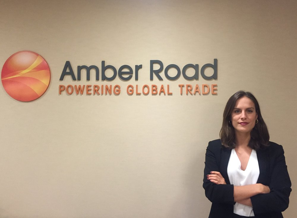 Arancha Gallardo pictured at her internship site, Amber Road