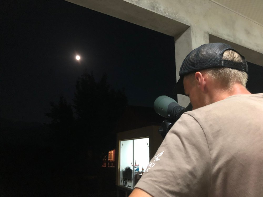 August 25th.  Moonwatching turned into a popular evening activity as the season progressed.