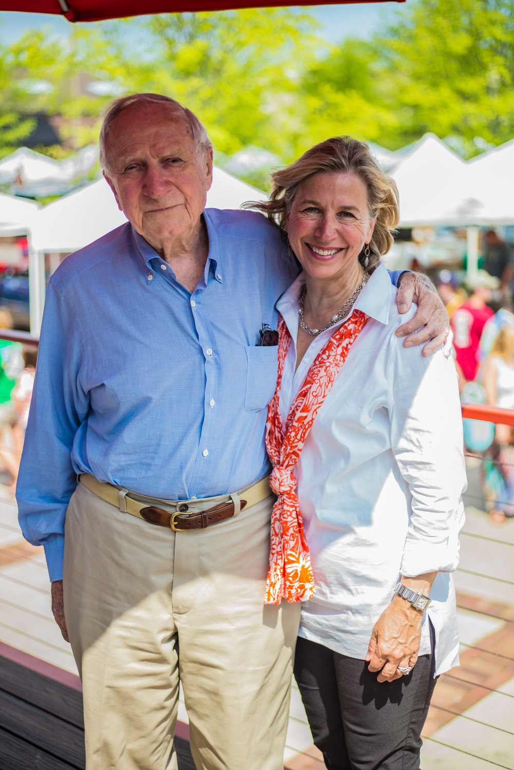Market Founder, Catherine Sloss Jones with father Pete Sloss