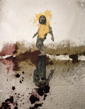 """Procession, 46"""" x 36"""", 2015."""