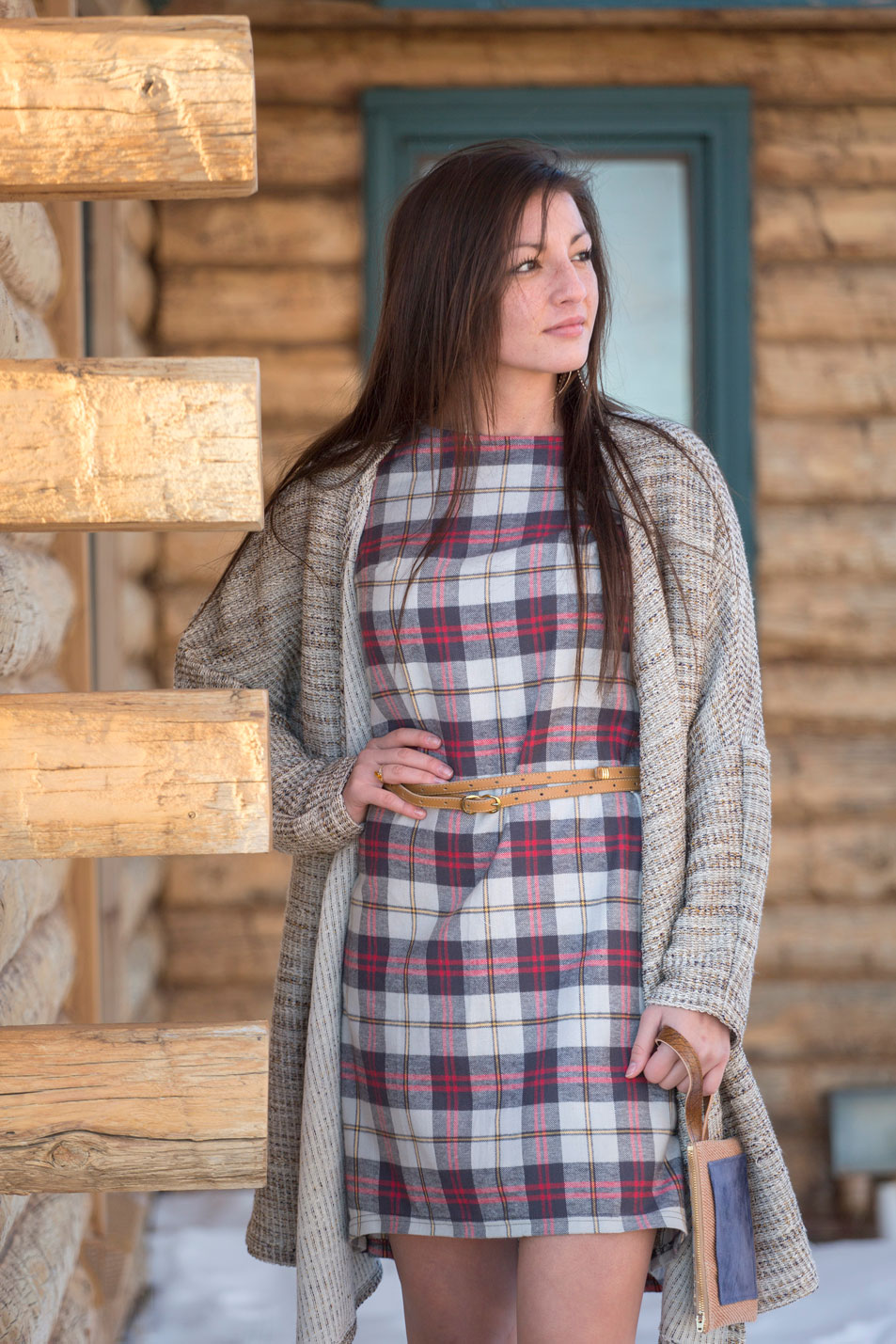 Aliza Dress & Belle Starr Sweater Jacket