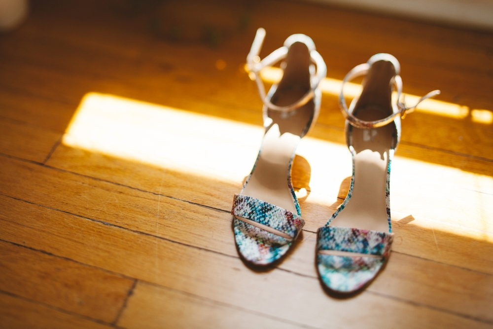 colorful bride shoes