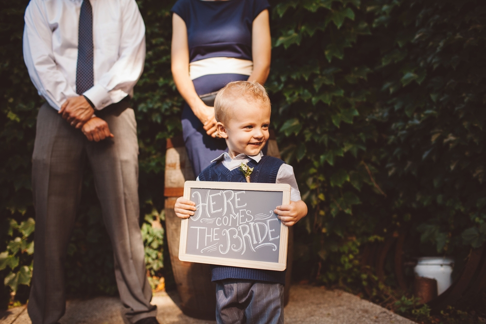 diy ring bearer sign