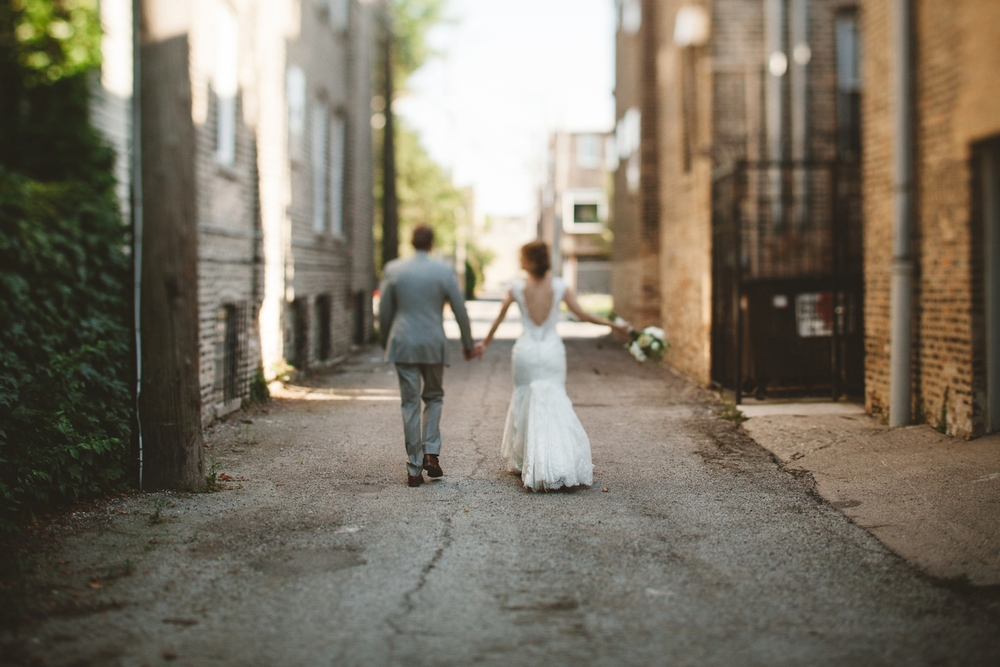 chicago alley wedding
