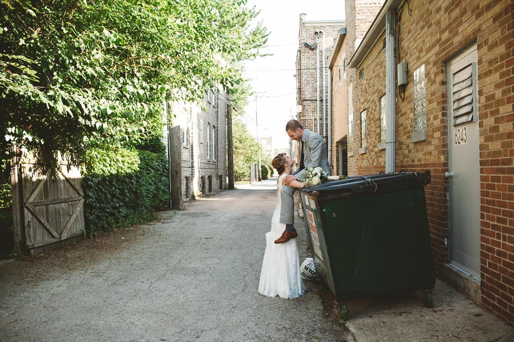 chicago back alley wedding