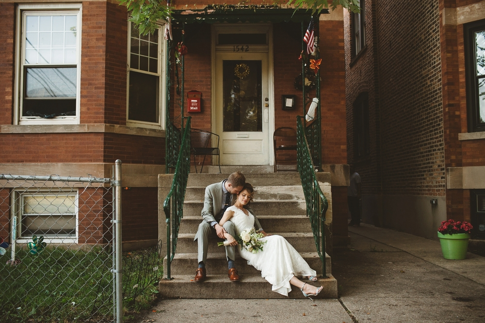 chicago home wedding