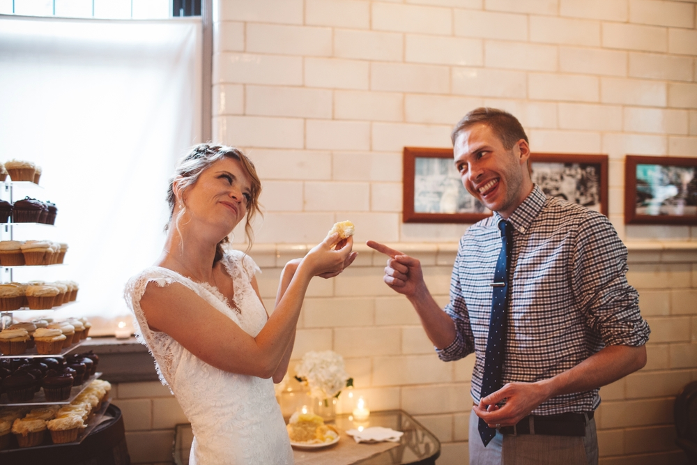 cupcake smash bride and groom