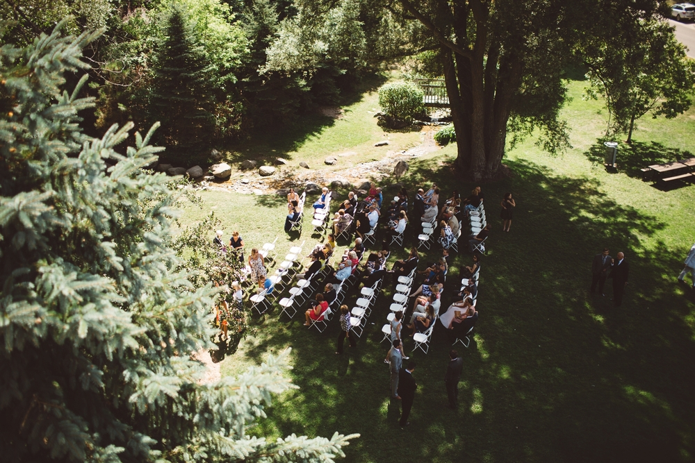 petoskey waterfall outdoor wedding