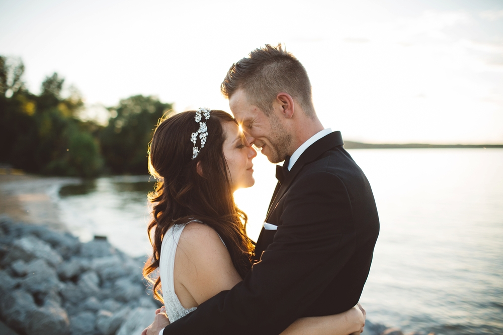 northern michigan sunset wedding