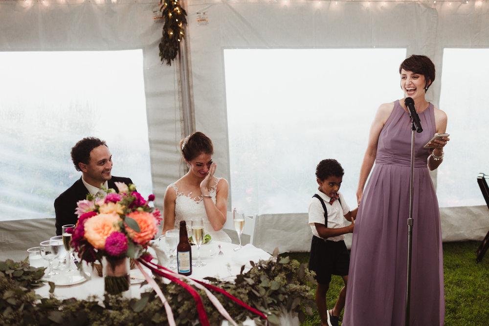 maid of honor speach northern michigan wedding