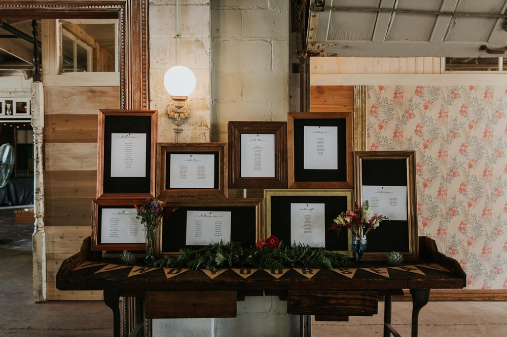 diy frames for wedding seating chart