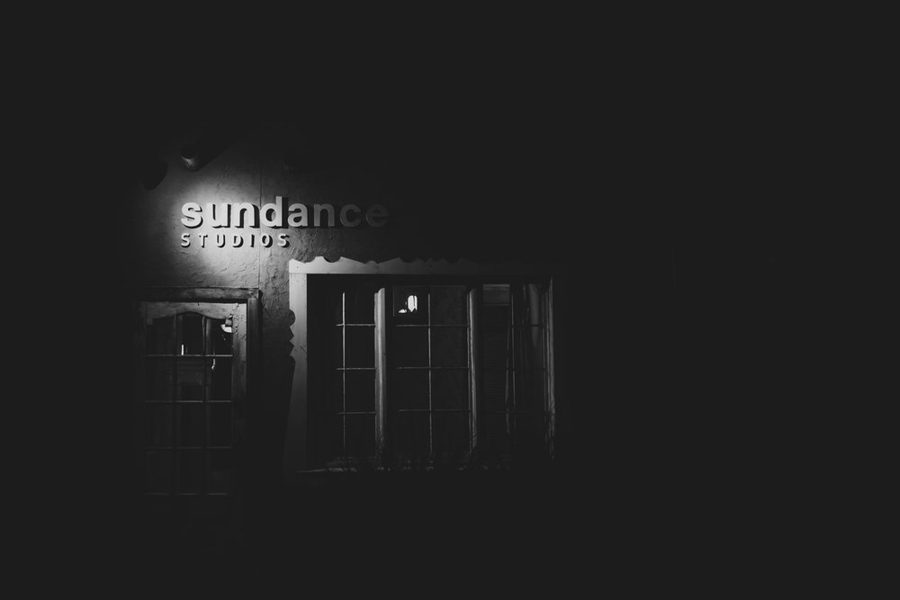 nightime at sundance studios wedding