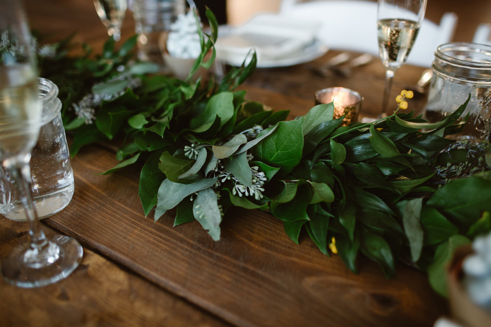 wedding table inspiration with greenery