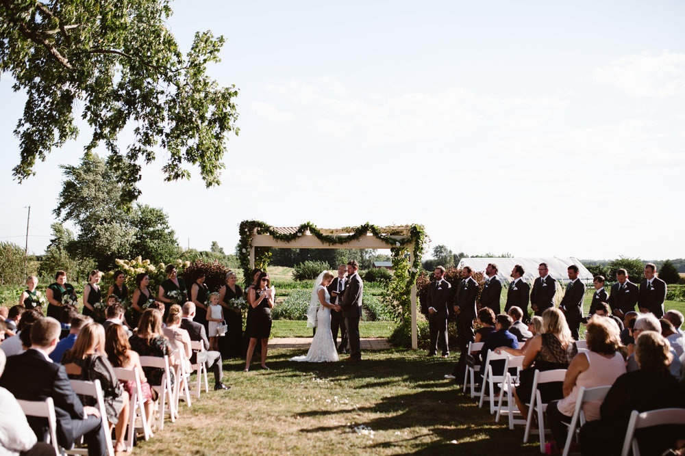 heritage prairie farm wedding ceremony location
