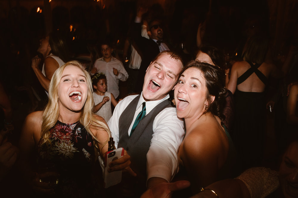 dancing crazy at wedding