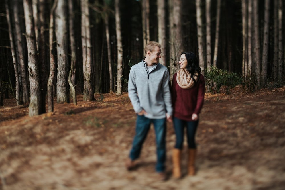 sleeping bear dunes outdoor engagement shoot