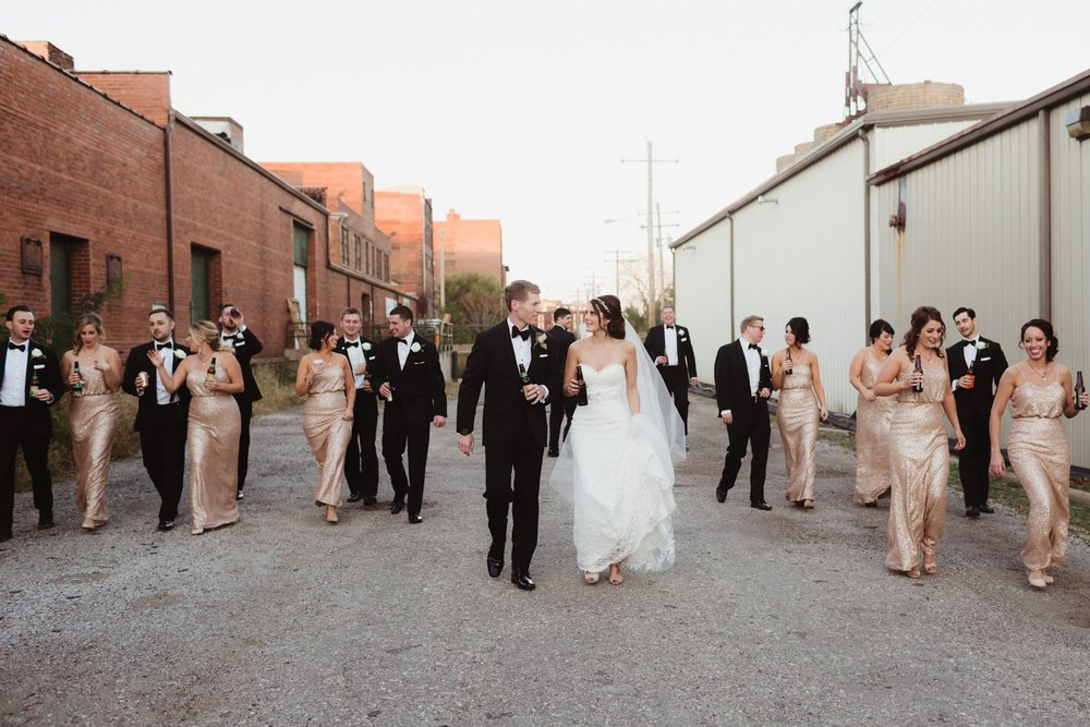 industrial downtown peoria wedding photographer