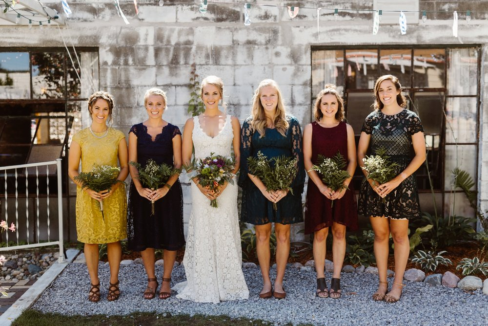 jewel toned bridesmaids dresses