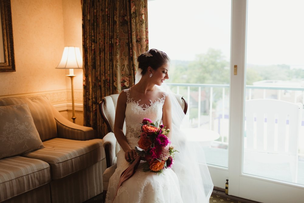 romantic petoskey michigan bride