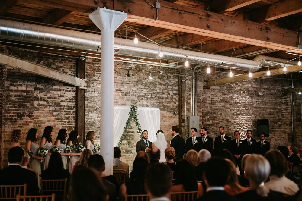 chicago kenmare loft wedding ceremony
