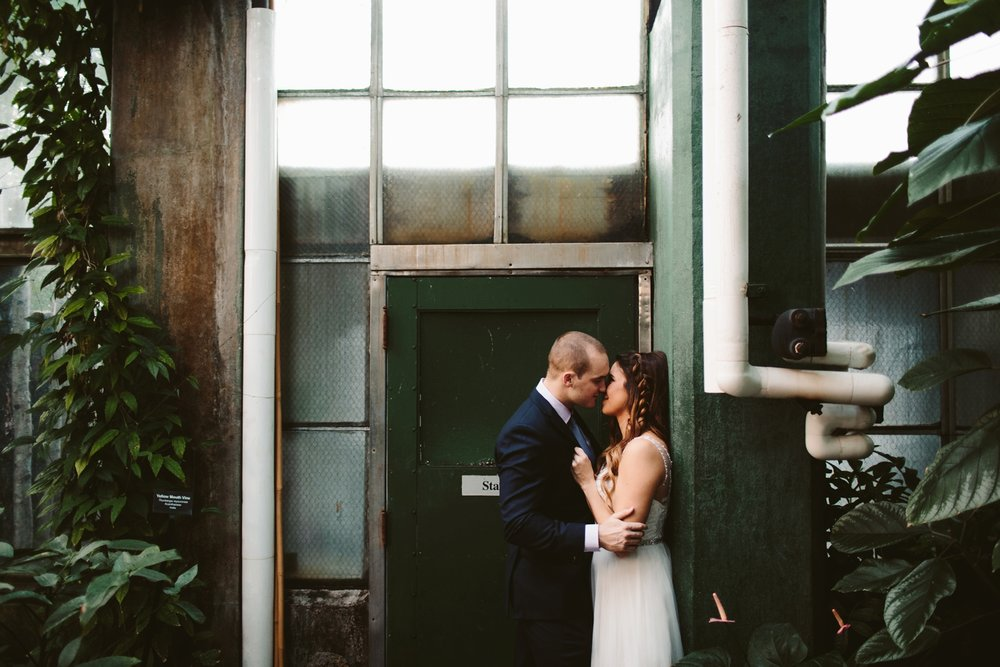 joyful and intimate wedding in the lincoln park conservatory