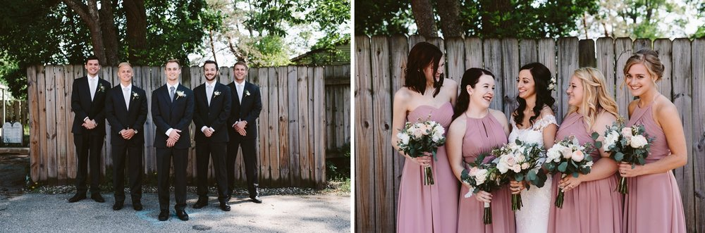 holland bridesmaid and groomsman at baker loft