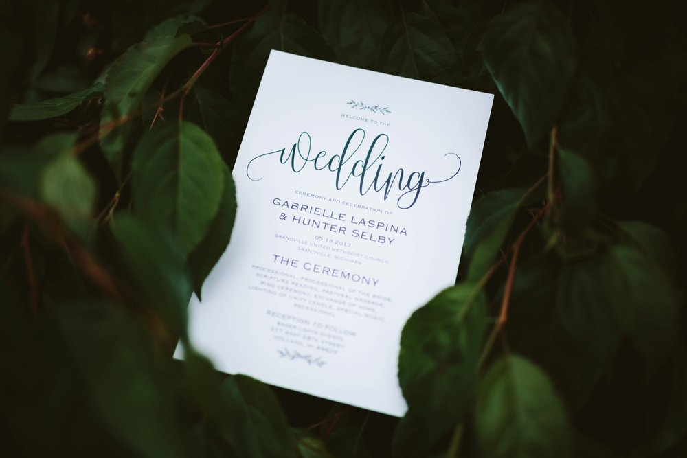 Holland Baker Loft Industrial Wedding invitation