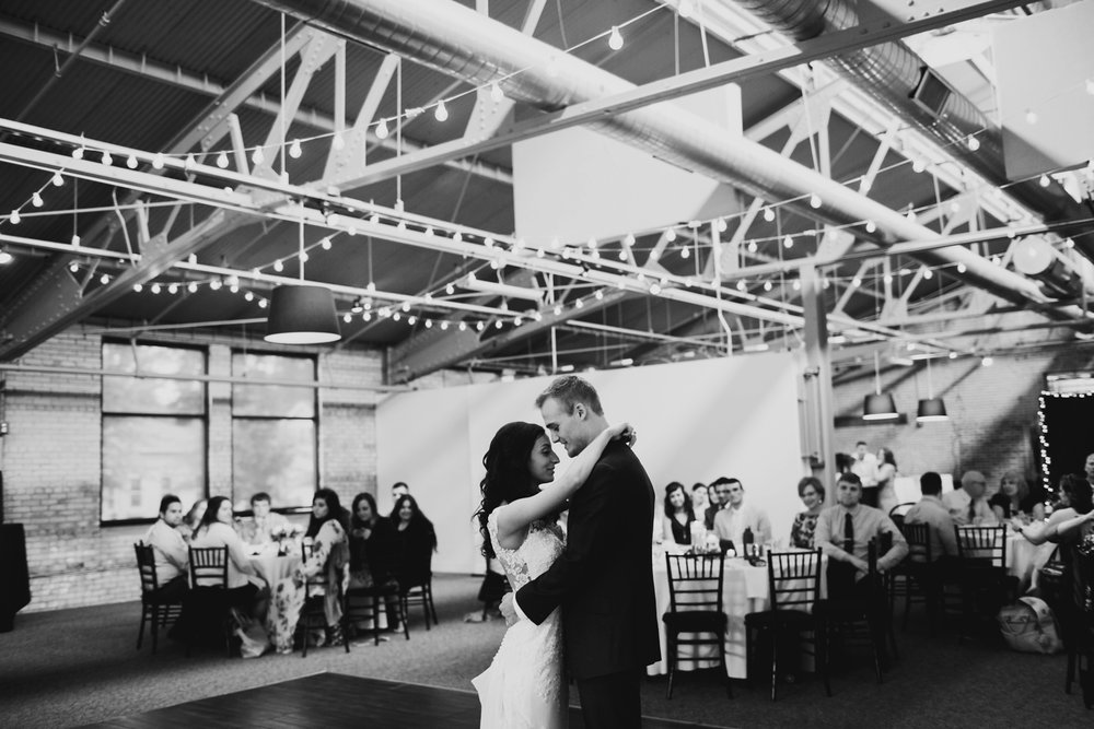wedding reception at baker lofts in holland michigan