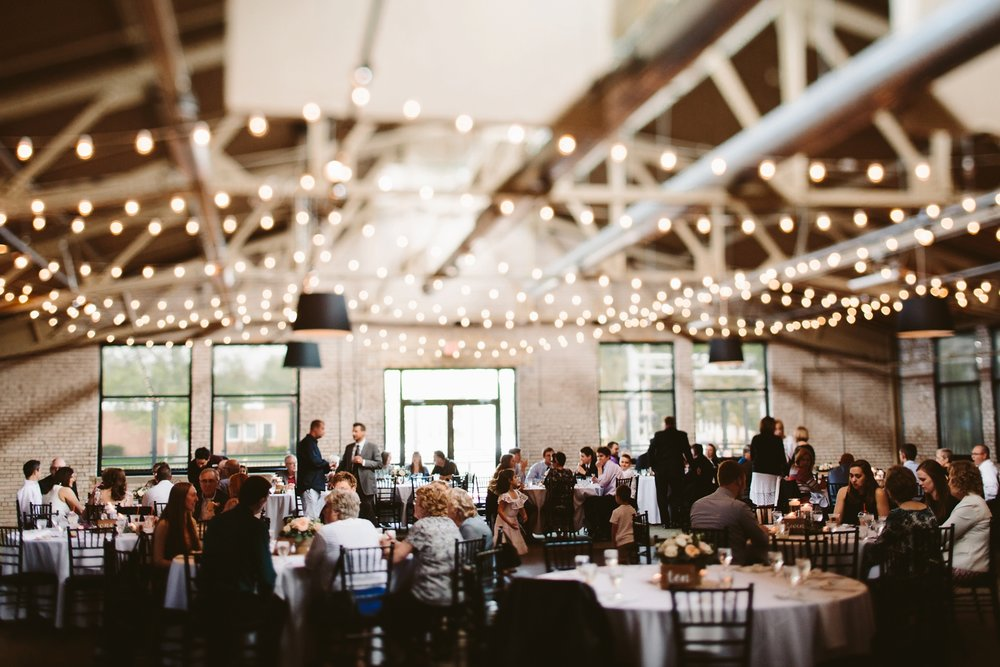 wedding reception at holland baker loft