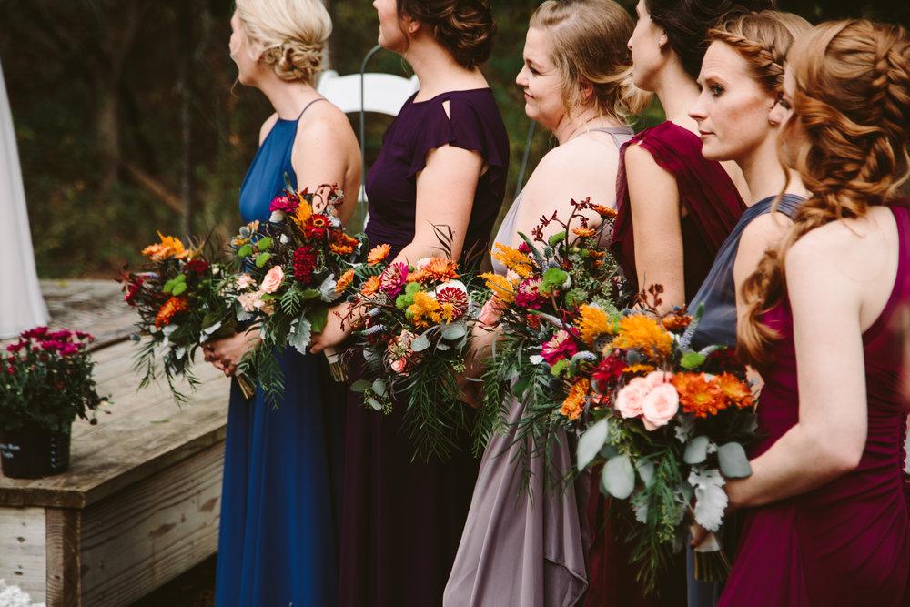 traverse city michigan forest wedding