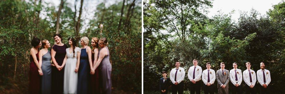 woodsy michigan outdoor backyard wedding