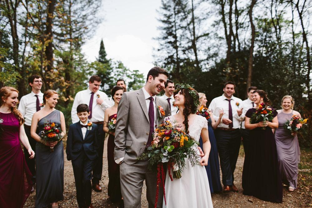 northern michigan bohemian forest wedding