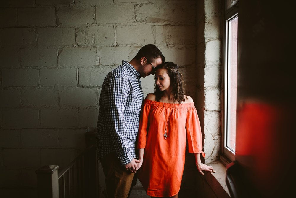 Downtown Industrial Rochester Engagement Shoot
