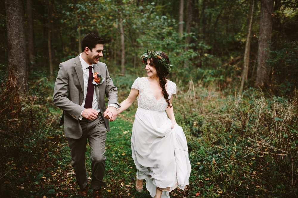 Michigan Bohemian Outdoor Wedding