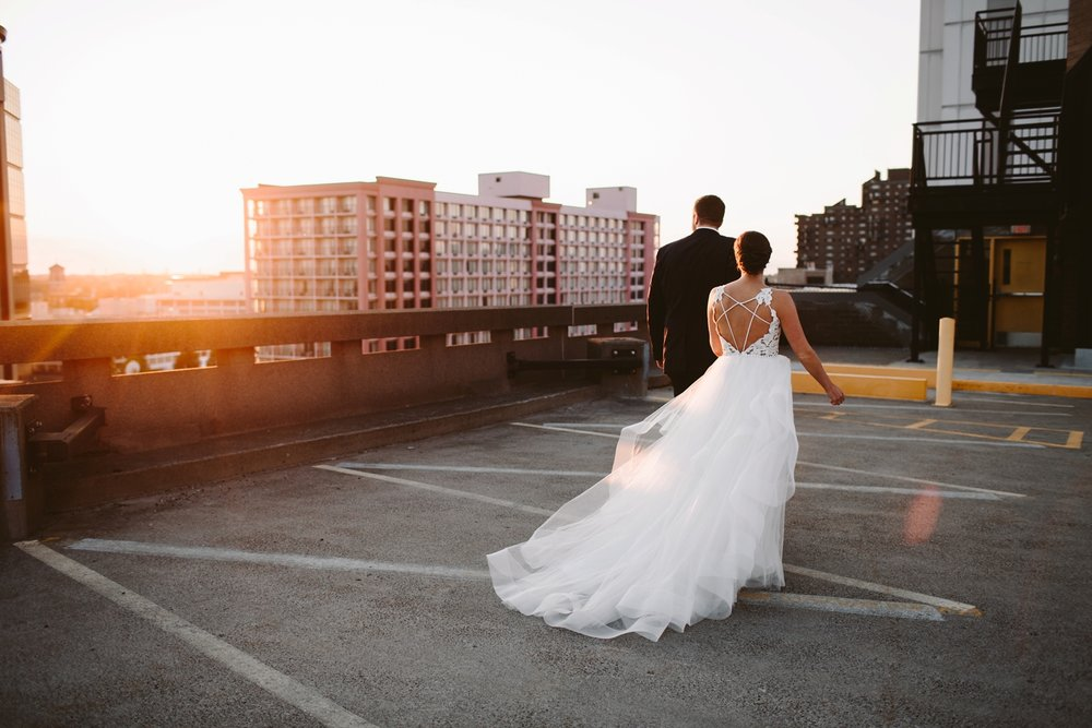 grand rapids rooftop loft wedding