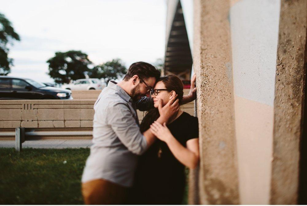 intimate urban michigan engagement