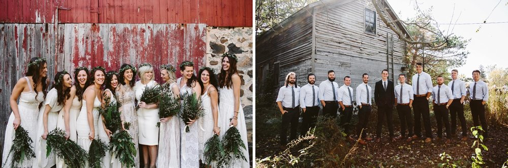 bridal party photo ideas for farm at dover wedding