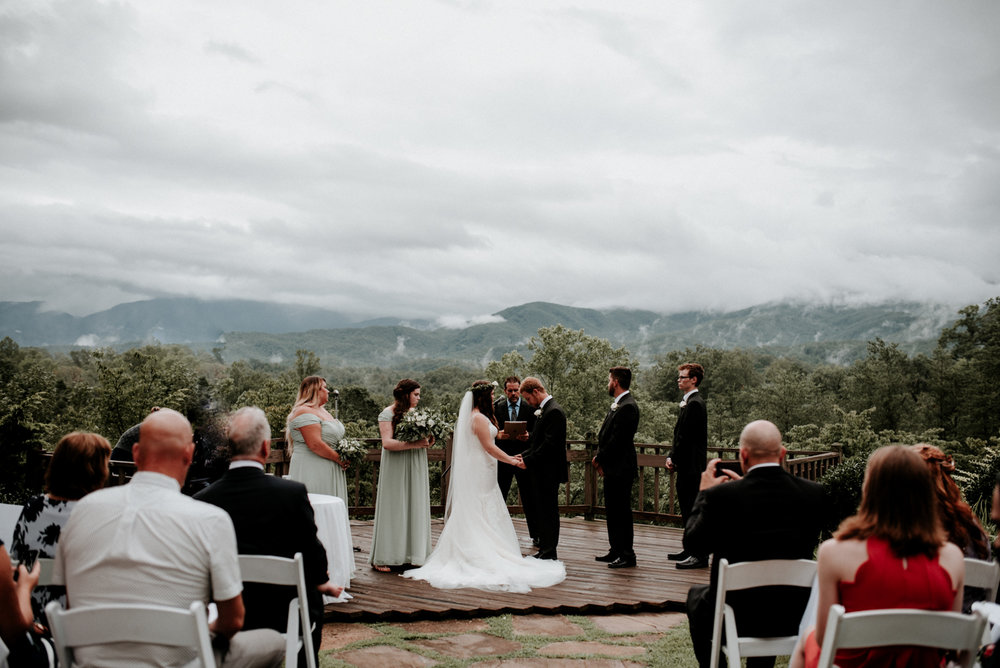 Josh + Melissa's Intimate Wedding in the Smoky Mountains