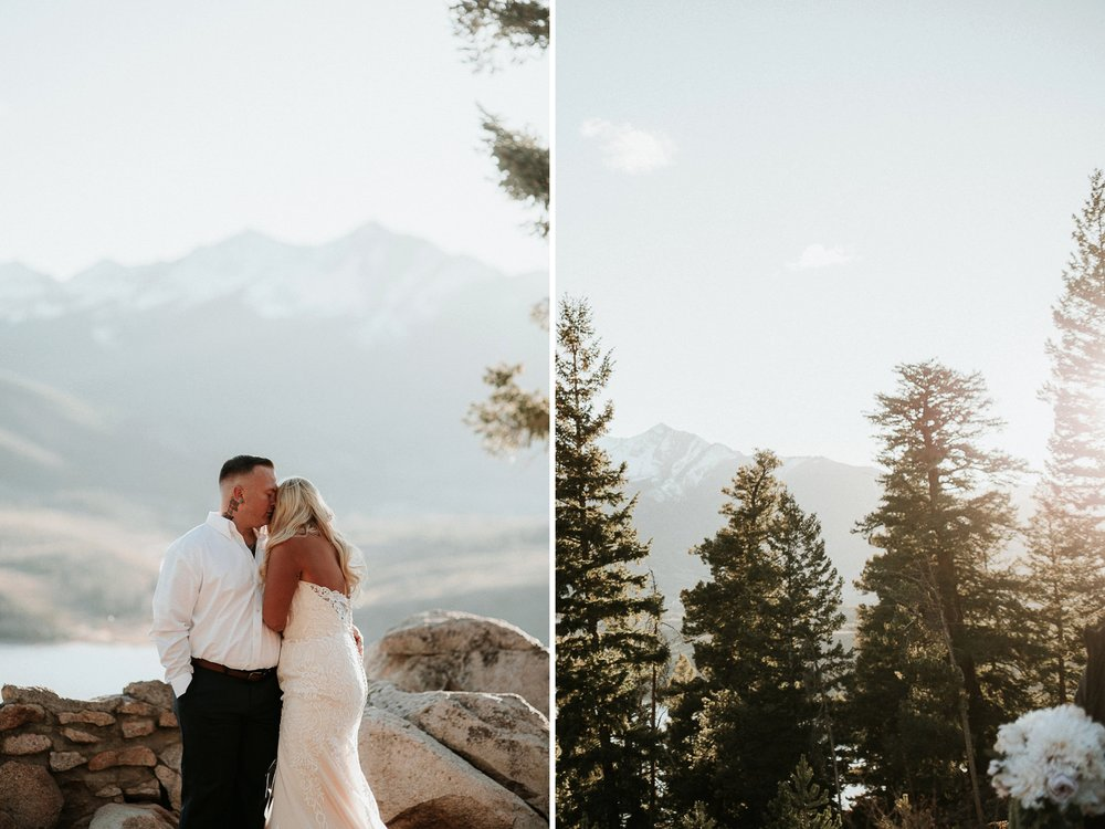 Jordan + Coleton's Intimate Wedding at Sapphire Point in Lake Dillon, Colorado