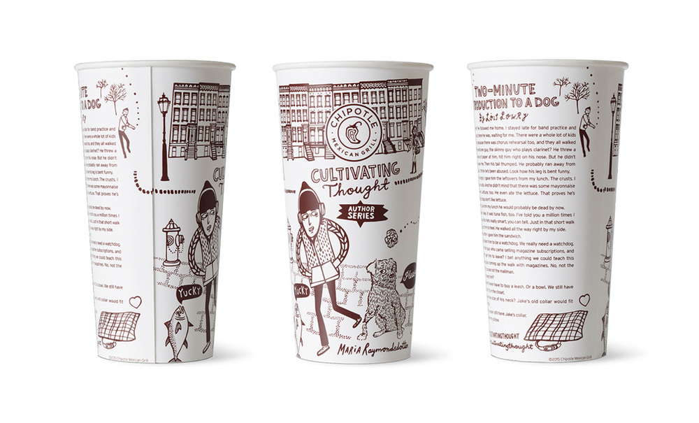 Chipotle cup, Cultivating thouhgt / Author serie