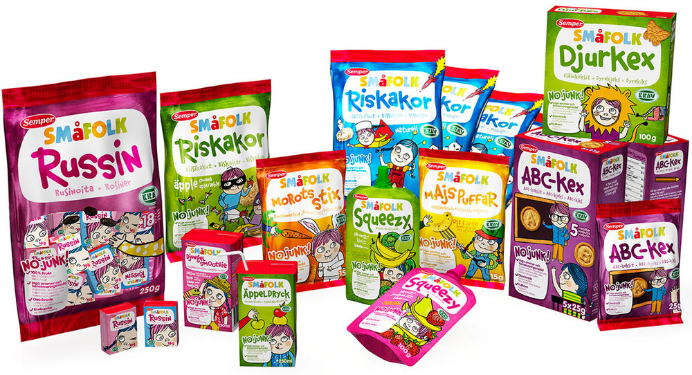 Semper Småfolk, health snacks for toddlers.