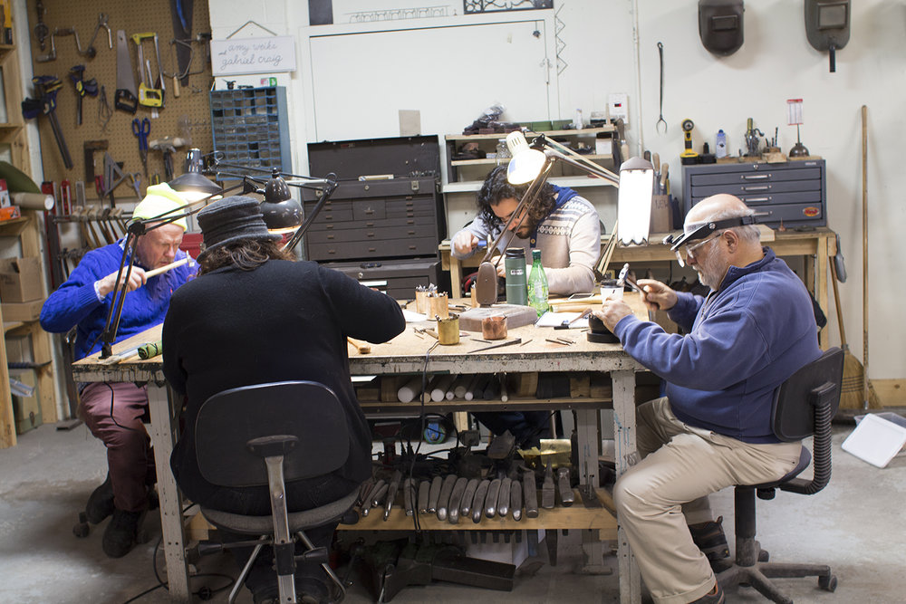 - Chasing and Repousse class offered by CCAA and hosted by Smith Shop.