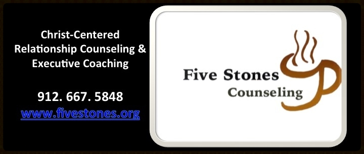 Click the coffee cup to connect to Five Stones Counseling.