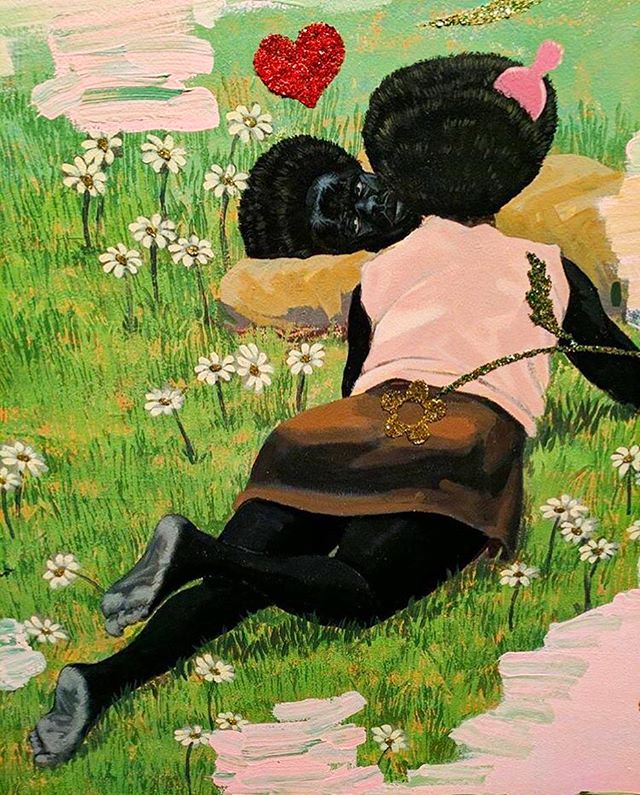 One more from #kerryjamesmarshall that I am just in love with. This may be my favorite. ❤️