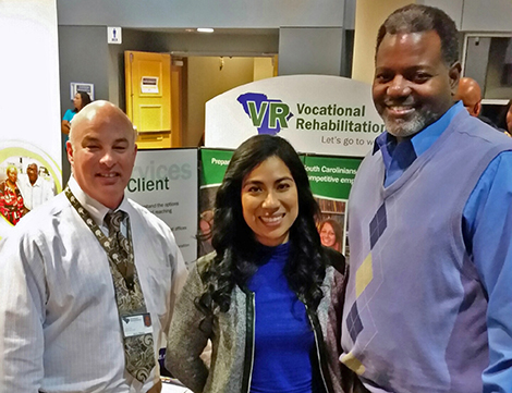 (left to right): Kerry Reece,  Job Coach; Cindy Hernandez, Administrative Team Support Specialist; Bernard Jones, Business Development Specialist.
