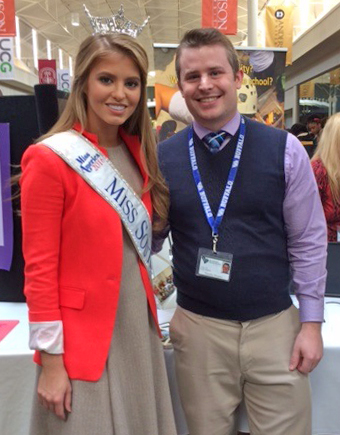 (left to right): Keynote Speaker Rachel Wyatt, Miss South Carolina 2016 and Timothy Simpkin, High School/High Tech Transition Counselor.
