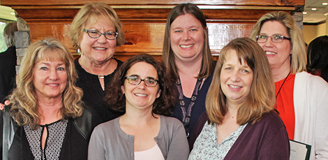 Thomas M. Leahy Creative Achievement Award  Failure to Cooperate Desk Aid Group (Front row: Gail Davis, Summer Ham, Nena Vincent. Back row: Shirley Jarrett, DDS Director; Melissa Goeringer; Susan Vlahos) - Greenville DDS