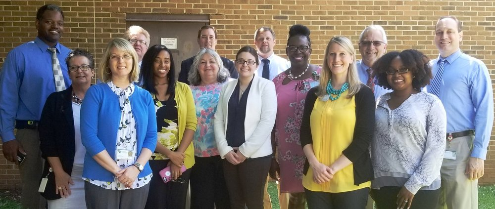Left to right: Bernard Jones, VR Business Development Specialist; Corinne Davis, SC Works; Tammy Galindo, VR Area Case Services Manager; David Gustafson; VR Job Preparedness Instructor; Tiffney Love, South Carolina Legal Services; Ruth Ann Wilson, Southern Weaving; Robert Honeycutt, Probation, Parole and Pardon; Christina Kelly, South Carolina Legal Services; James Norment, VR Counselor; LaMonica Woodruff, VR Vocational Assessment and Career Specialist; Jessie Cochran, USC Upstate; Stephen Patterson, VR Self Paced In Class Education (SPICE) Coordinator; Cierra Mack, VR Counselor; Chris Mulley, VR Counselor.
