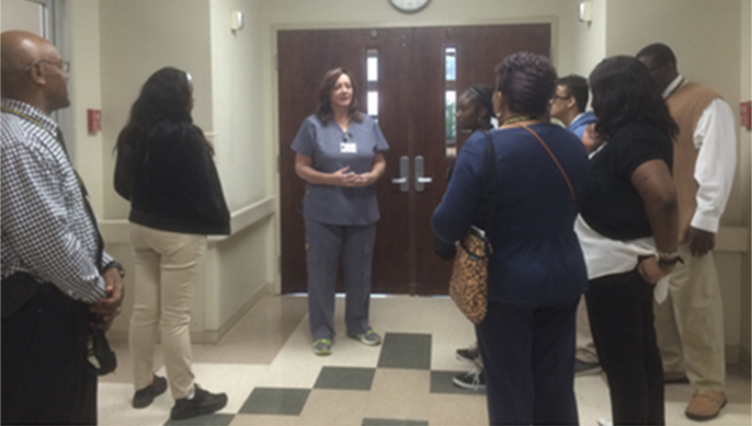 Allendale-Fairfax High School students toured Allendale County Hospital and Scotsman Ice Systems.